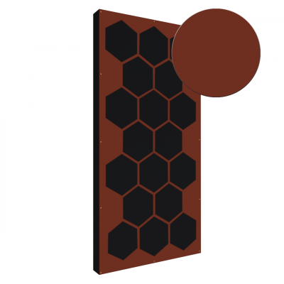 AbFuser Hexagon WOOD 100x50 5 CM