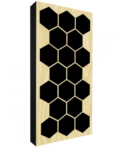 AbFuser Hexagon WOOD 100x50 10 CM