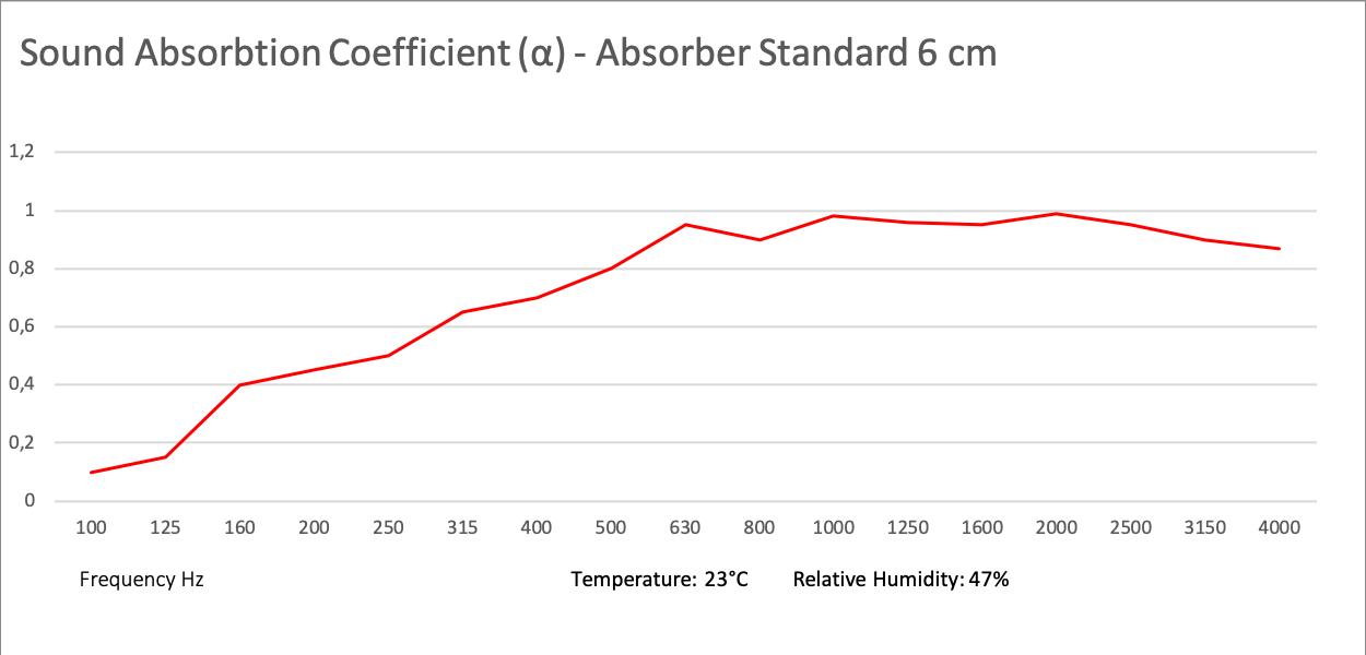 Schallabsorber Standard 100x50x6 cm